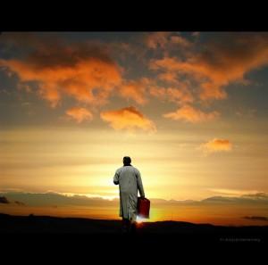 man on journey